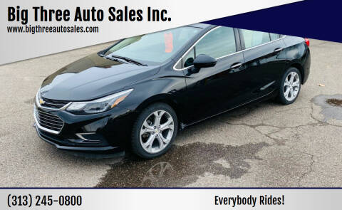 2018 Chevrolet Cruze for sale at Big Three Auto Sales Inc. in Detroit MI