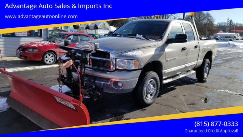 2004 Dodge Ram Pickup 2500 for sale at Advantage Auto Sales & Imports Inc in Loves Park IL