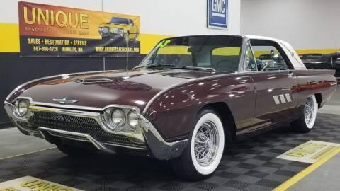1963 Ford Thunderbird for sale at UNIQUE SPECIALTY & CLASSICS in Mankato MN