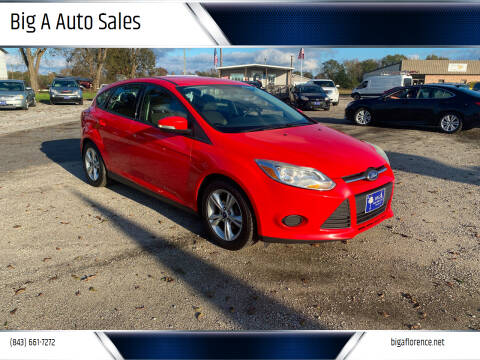 2014 Ford Focus for sale at Big A Auto Sales Lot 2 in Florence SC