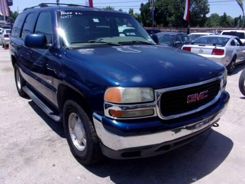 2001 GMC Yukon for sale at SCOTT HARRISON MOTOR CO in Houston TX