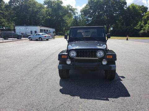 1999 Jeep Wrangler for sale at A-1 Auto Sales in Anderson SC