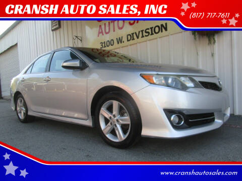 2014 Toyota Camry for sale at CRANSH AUTO SALES, INC in Arlington TX