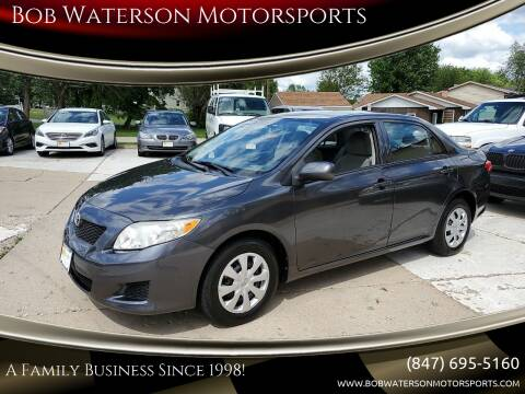 2010 Toyota Corolla for sale at Bob Waterson Motorsports in South Elgin IL