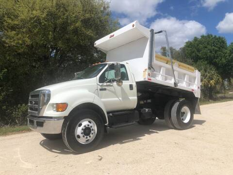 2008 Ford F-750 DUMP TRUCK for sale at S & N AUTO LOCATORS INC in Lake Placid FL