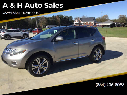 2009 Nissan Murano for sale at A & H Auto Sales in Greenville SC