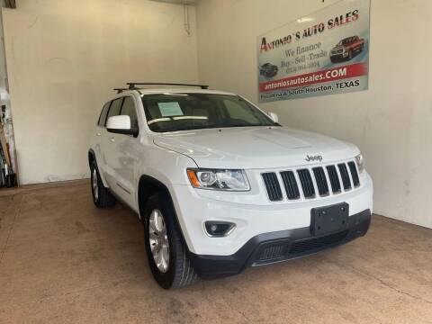 2016 Jeep Grand Cherokee for sale at Antonio's Auto Sales - Antonio`s  3001 in Pasadena TX