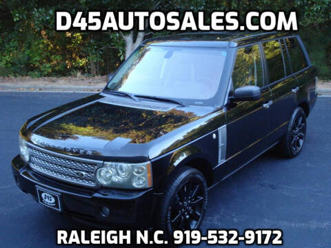 2007 Land Rover Range Rover for sale at D45 Auto Brokers in Raleigh NC