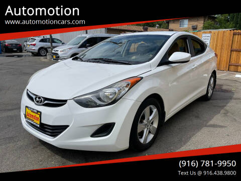 2013 Hyundai Elantra for sale at Automotion in Roseville CA