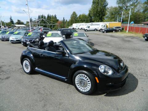 2014 Volkswagen Beetle Convertible for sale at J & R Motorsports in Lynnwood WA