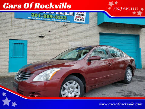 2010 Nissan Altima for sale at Cars Of Rockville in Rockville MD