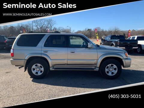 2001 Toyota 4Runner for sale at Seminole Auto Sales in Seminole OK