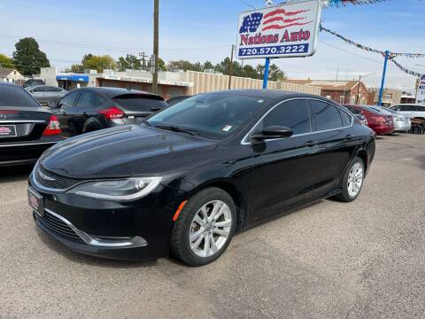2015 Chrysler 200 for sale at Nations Auto Inc. II in Denver CO