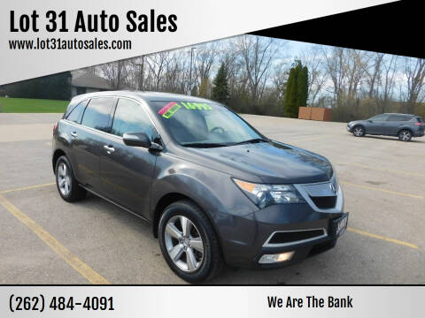2012 Acura MDX for sale at Lot 31 Auto Sales in Kenosha WI