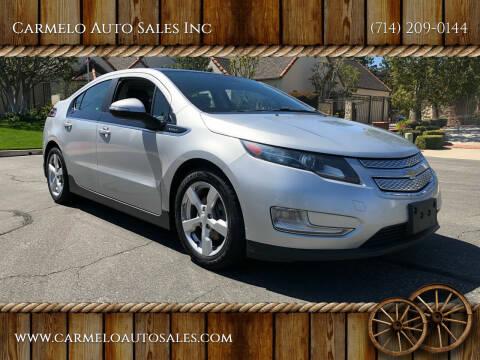 2012 Chevrolet Volt for sale at Carmelo Auto Sales Inc in Orange CA