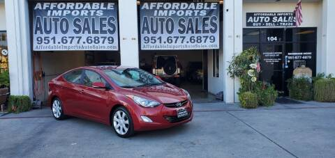 2012 Hyundai Elantra for sale at Affordable Imports Auto Sales in Murrieta CA