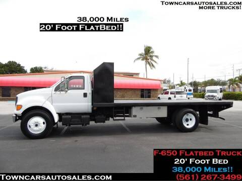 2001 Ford F-650 Super Duty for sale at Town Cars Auto Sales in West Palm Beach FL
