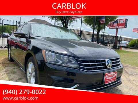 2017 Volkswagen Passat for sale at CARBLOK in Lewisville TX