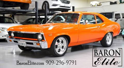 1969 Chevrolet Nova for sale at Baron Elite in Upland CA