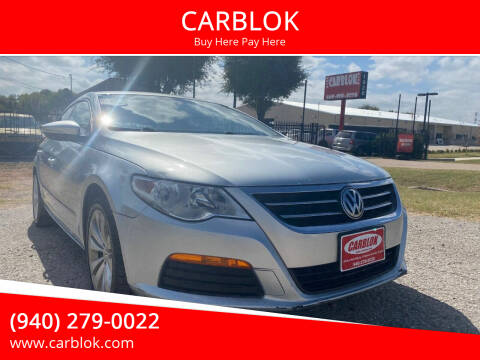 2012 Volkswagen CC for sale at CARBLOK in Lewisville TX