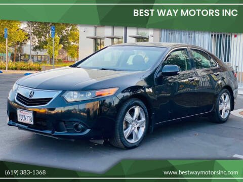 2012 Acura TSX for sale at BEST WAY MOTORS INC in San Diego CA