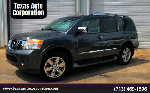 2012 Nissan Armada for sale at Texas Auto Corporation in Houston TX