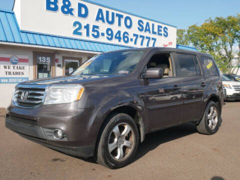 2014 Honda Pilot for sale at B & D Auto Sales Inc. in Fairless Hills PA