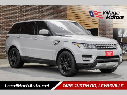 2014 Land Rover Range Rover Sport for sale at Village Motors in Lewisville TX