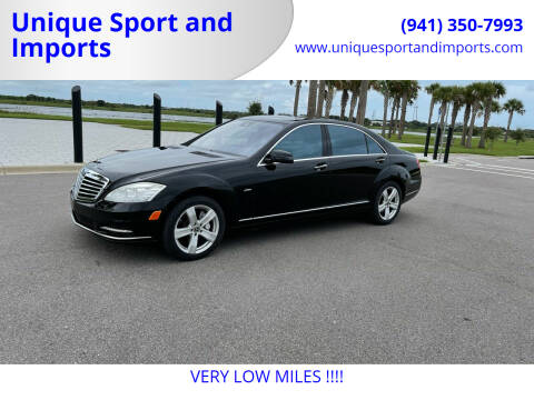 2012 Mercedes-Benz S-Class for sale at Unique Sport and Imports in Sarasota FL