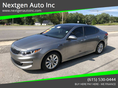 2016 Kia Optima for sale at Nextgen Auto Inc in Smithville TN