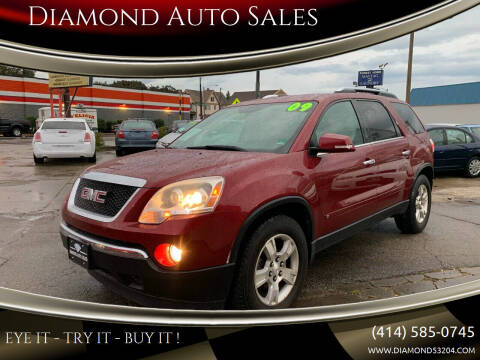 2009 GMC Acadia for sale at Diamond Auto Sales in Milwaukee WI