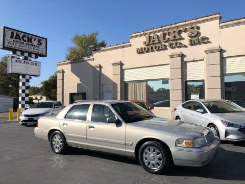 2007 Mercury Grand Marquis for sale at JACK'S MOTOR COMPANY in Van Buren AR