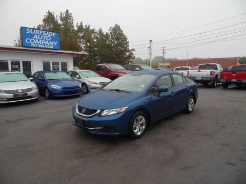 2015 Honda Civic for sale at Surfside Auto Company in Norfolk VA