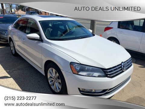 2012 Volkswagen Passat for sale at AUTO DEALS UNLIMITED in Philadelphia PA
