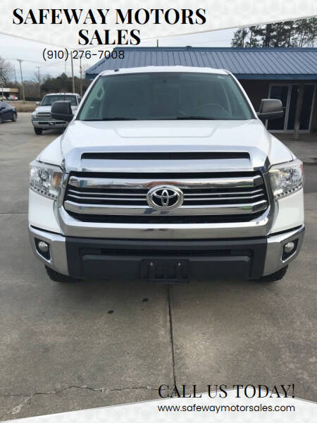 2016 Toyota Tundra for sale at Safeway Motors Sales in Laurinburg NC