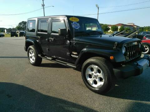 2013 Jeep Wrangler Unlimited for sale at Kelly & Kelly Supermarket of Cars in Fayetteville NC