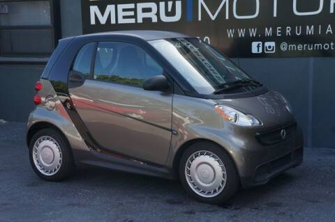2013 Smart fortwo for sale at Meru Motors in Hollywood FL