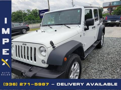 2018 Jeep Wrangler JK Unlimited for sale at Impex Auto Sales in Greensboro NC