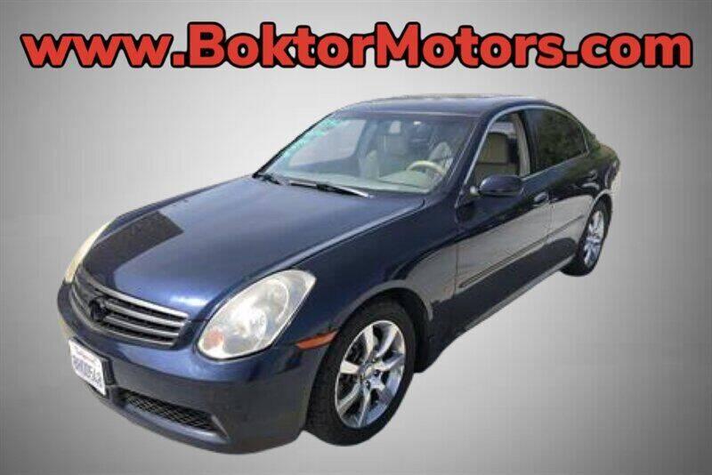 2006 Infiniti G35 for sale at Boktor Motors in North Hollywood CA