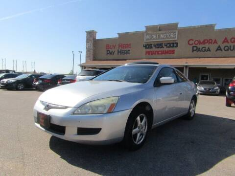 2003 Honda Accord for sale at Import Motors in Bethany OK