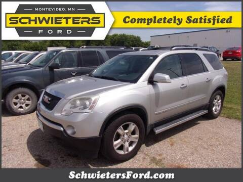 2008 GMC Acadia for sale at Schwieters Ford of Montevideo in Montevideo MN