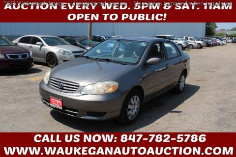 2004 Toyota Corolla for sale at Waukegan Auto Auction in Waukegan IL