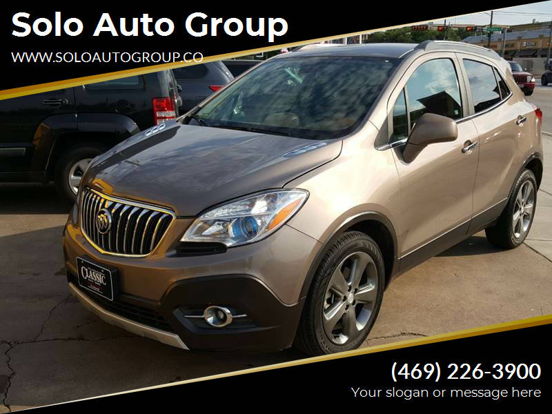 2013 Buick Encore for sale at Solo Auto Group in Mckinney TX