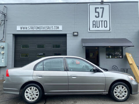 2005 Honda Civic for sale at 57 AUTO in Feeding Hills MA