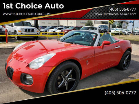 2008 Pontiac Solstice for sale at 1st Choice Auto L.L.C in Oklahoma City OK