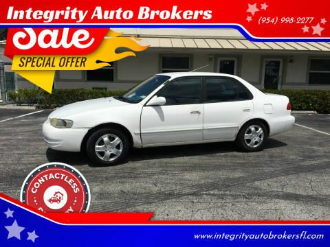 2000 Toyota Corolla for sale at Integrity Auto Brokers in Pompano Beach FL