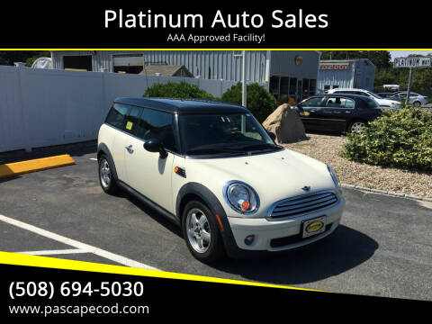 2010 MINI Cooper Clubman for sale at Platinum Auto Sales in South Yarmouth MA