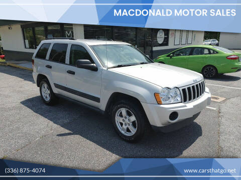 2005 Jeep Grand Cherokee for sale at MacDonald Motor Sales in High Point NC