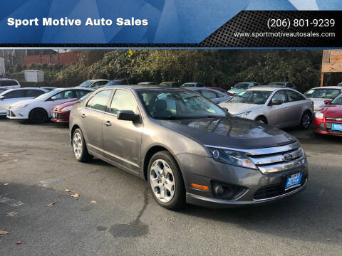 2011 Ford Fusion for sale at Sport Motive Auto Sales in Seattle WA