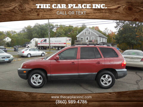 2004 Hyundai Santa Fe for sale at THE CAR PLACE INC. in Somersville CT